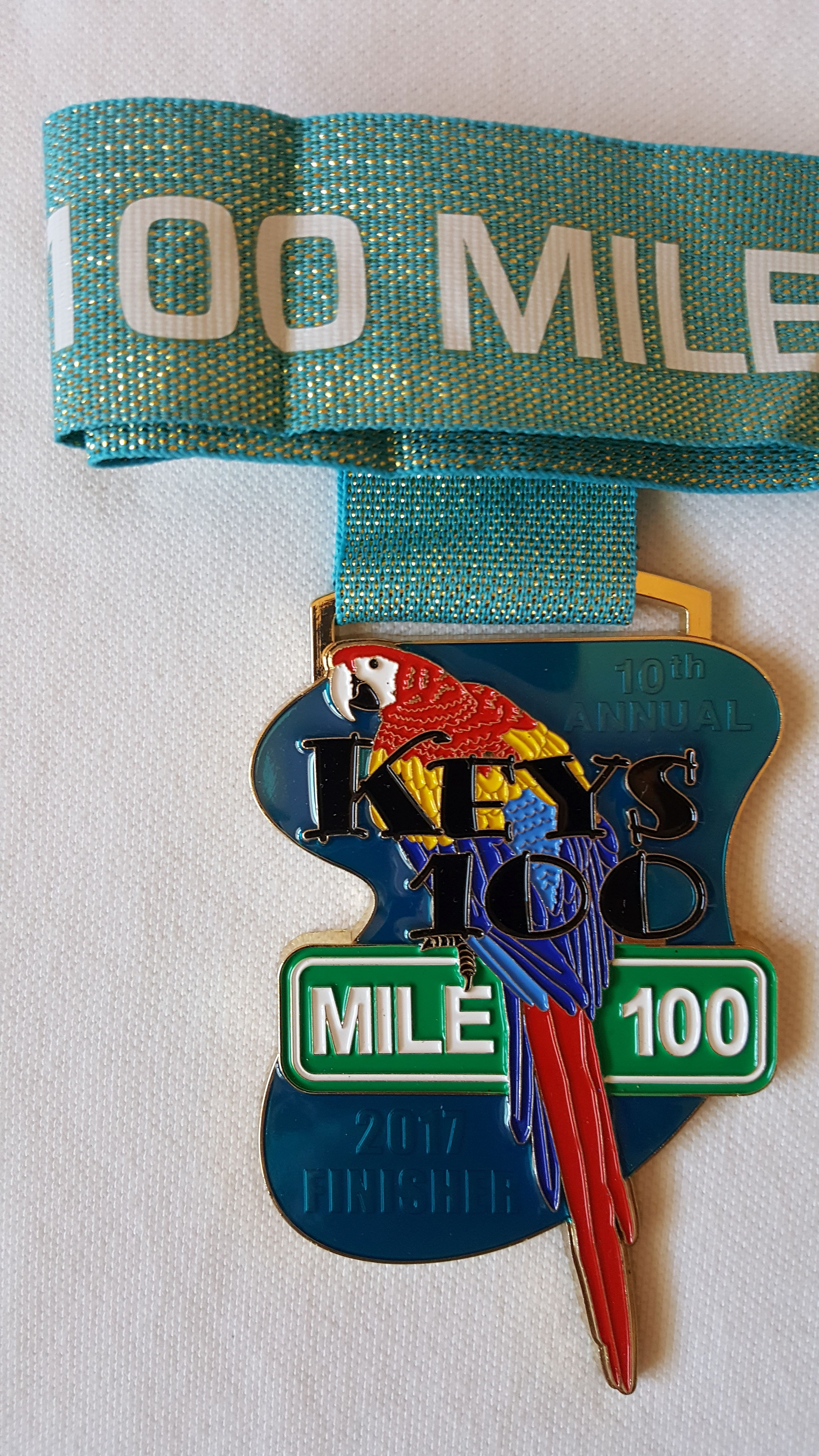 2017 KEYS100 finisher medal